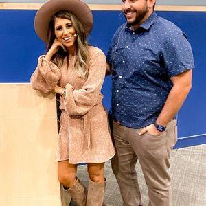 Light Camel Chenille Sweater Dress
